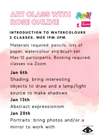 The Island Presents: Art Class with Rose (Online) in Bristol