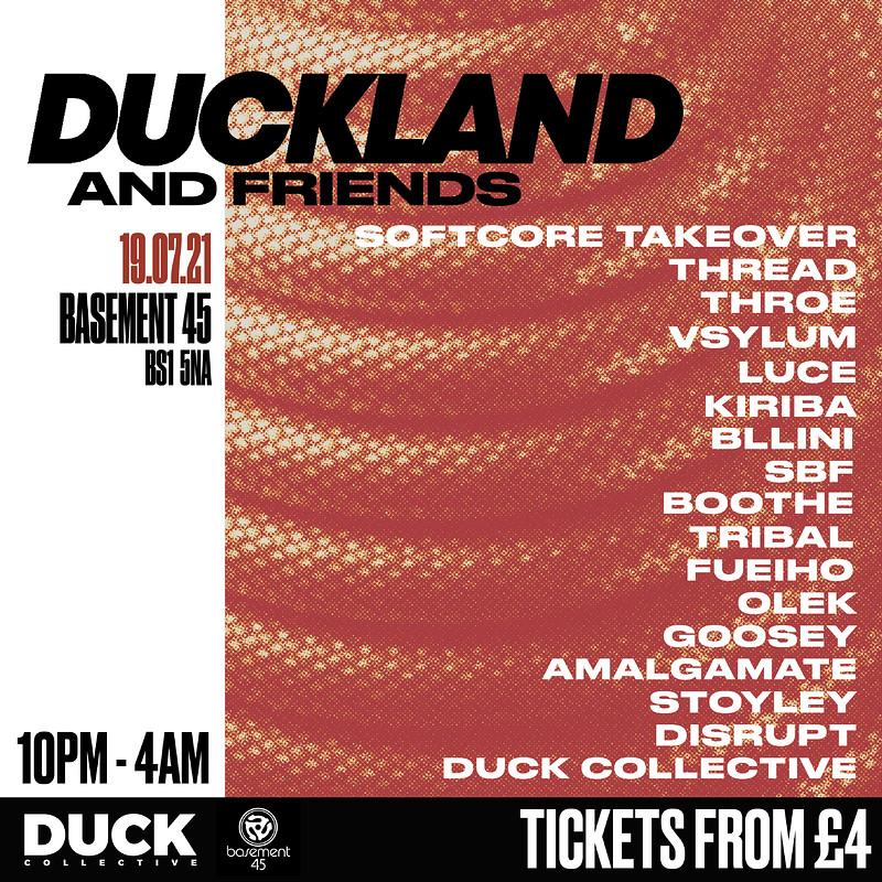 DUCKLAND & Friends Big Bash Back at Basement 45