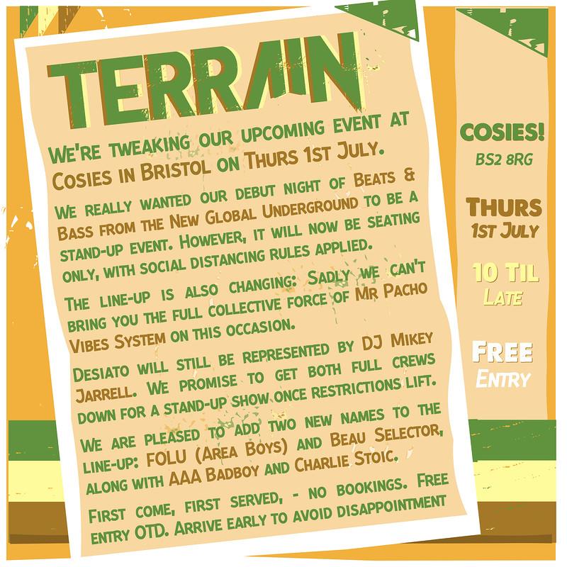 TERRAIN - New Global Beats & Bass in Bristol 2021