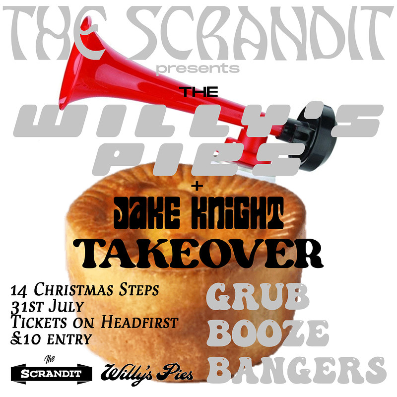 Willy's Pies x Jake Knight: Scrandit Takeover at The Scrandit