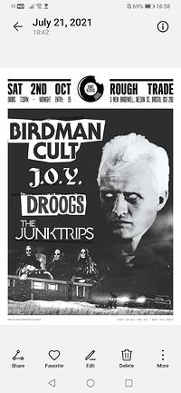 Birdman Cult / J.O.Y.   Junktrips / new america in Bristol