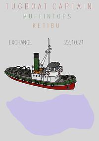 Tugboat Captain, Muffintops and Ketibu in Bristol