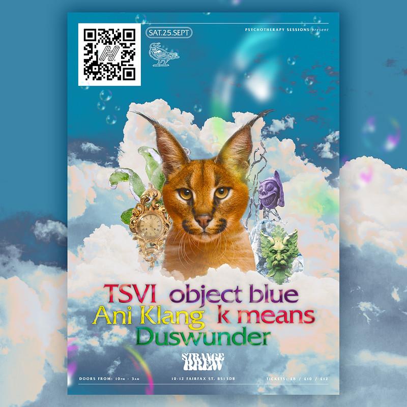 PTS w/ TSVI, object blue, Ani Klang ++ at Strange Brew