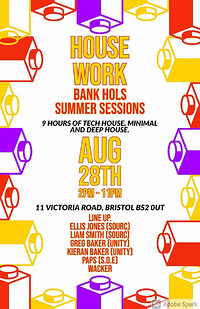 House work co. Bank holiday all day session  in Bristol
