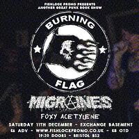 Burning Flag in Bristol