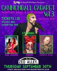 Cannonball Cabaret Vol 3 in Bristol