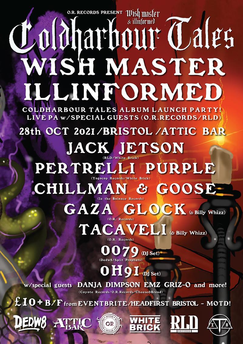 Wish Master X llinformed Cold Harbour Tales  Album at The Attic Bar