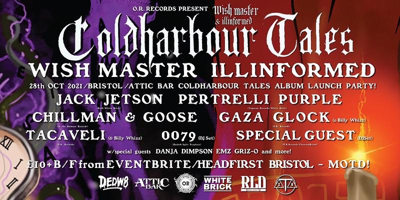 Wish Master X llinformed Cold Harbour Tales  Album in Bristol 2021