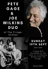 Pete Gage and Joe Wilkins in Bristol