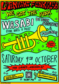 Late Night Funk Club: Wasabi + John Stapleton in Bristol