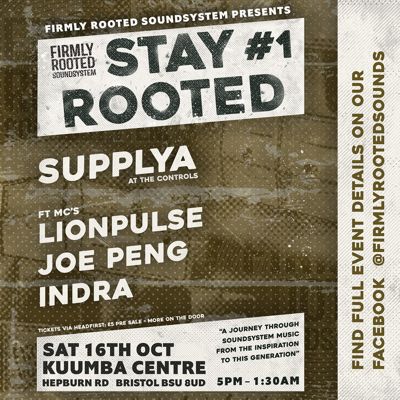 Firmly Rooted Soundsystem Presents: Stay Rooted #1 in Bristol 2021