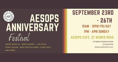 Chai For All at Aesop's Anniversary Festival at Aesop's in Bristol