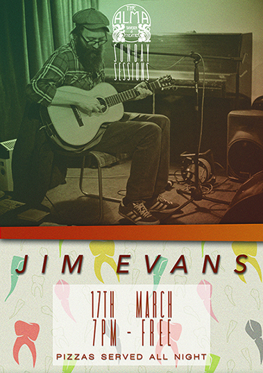 Sunday Sessions: Jim Evans at Alma Tavern & Theatre in Bristol