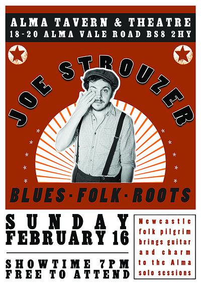 Sunday Sessions: Joe Strouzer at Alma Tavern & Theatre in Bristol