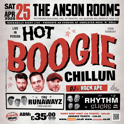 Hot Boogie Chillun + Special Guest at Anson Rooms in Bristol