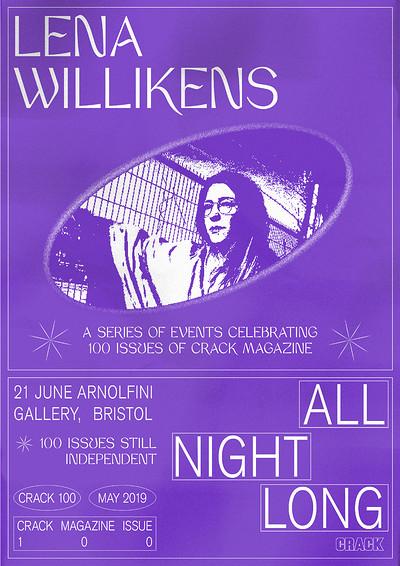 Crack 100: Lena Willikens all Night Long at Arnolfini in Bristol