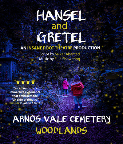 Hansel and Gretel at Arnos Vale Cemetery Woodlands in Bristol