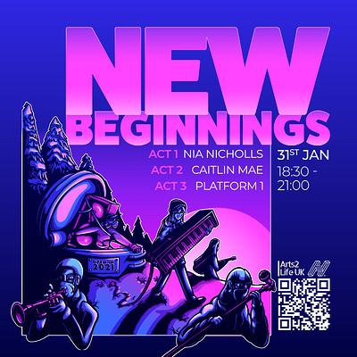 New Beginnings at Arts2Life UK Facebook Page in Bristol