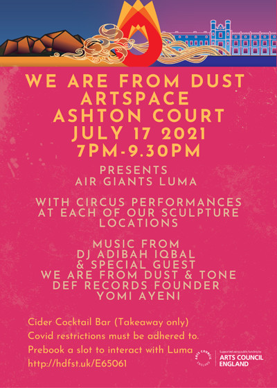 We are from Dust Artspace Ashton Court  at Ashton Court in Bristol