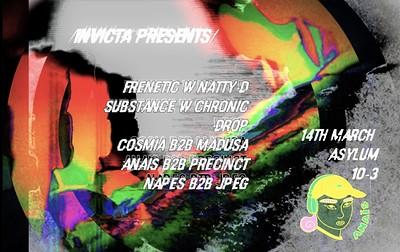 Invicta Presents Frenetic + Natty D and Substance  at Asylum Nightclub in Bristol