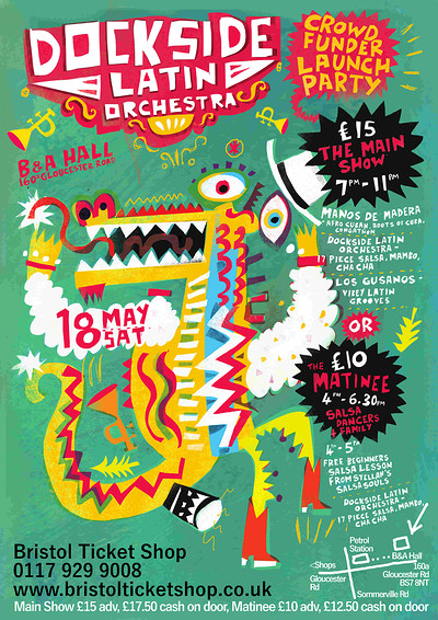 Dockside Latin Orchestra, Family and Salsa MATINEE at B&A Hall, 160a Gloucester Rd, Bristol in Bristol