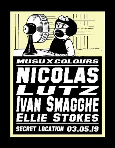 Musu x Colours w/ Nicolas Lutz & Ivan Smagghe at Band Films in Bristol