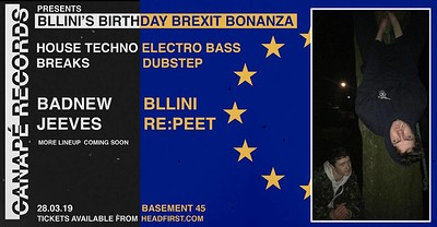 Bllini's Birthday Brexit Bonanza at Basement 45 in Bristol