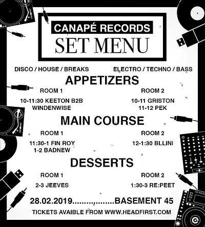 Canapé Records Presents: SET MENU at Basement 45 in Bristol