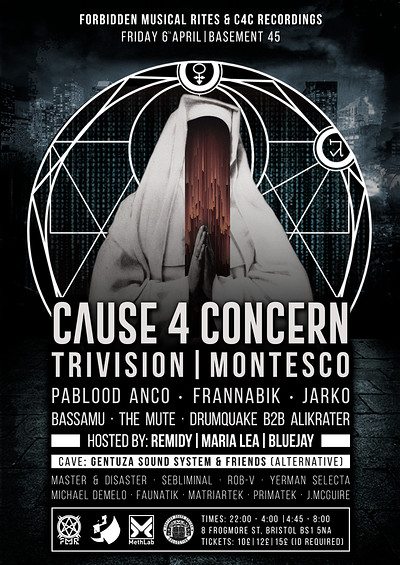 Cause4Concern Bristol - FMR  & C4C Recordings at Basement 45 in Bristol