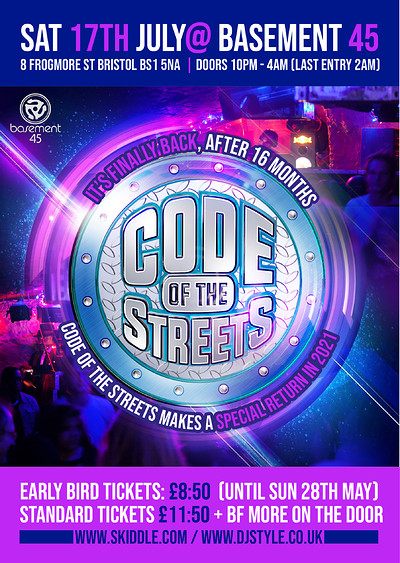 Code of the Streets at Basement 45 in Bristol