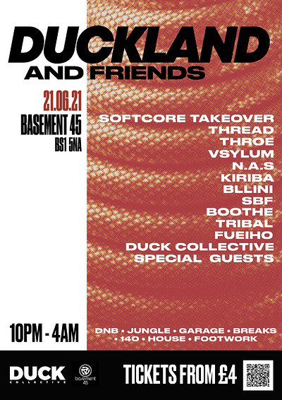 DUCKLAND & Friends Big Bash Back at Basement 45 in Bristol