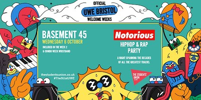 Notorious - Hip-Hop & Rap Party at Basement 45 in Bristol