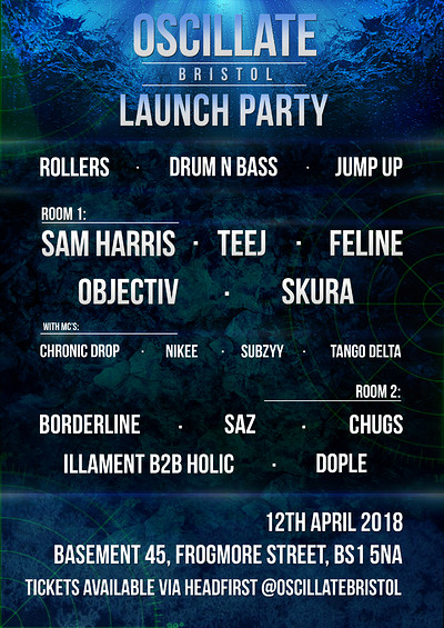 Oscillate Bristol Launch Party at Basement 45 in Bristol