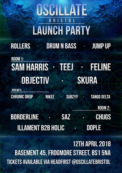 Oscillate Bristol Launch Party at Basement 45 in Bristol