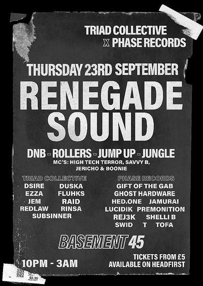 RENEGADE SOUND at Basement 45 in Bristol