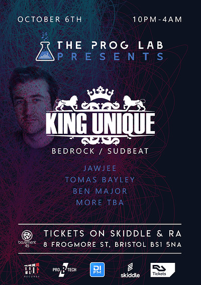 The Prog Lab Presents King Unique at Basement 45 in Bristol