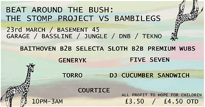 The stomp project vs. bambilegs at Basement 45 in Bristol