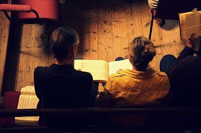 Sacred Harp singing at Benjamin Perry Scout Hut in Bristol