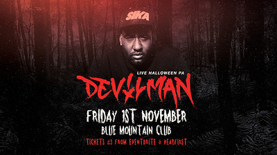 Blue Mountain Halloween: Devilman Live Pa at Blue Mountain in Bristol