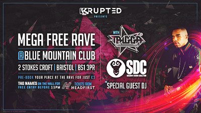BLUEMOUNTAIN MEGA FREE PARTY w/ MC TRIGGA - SDE at Blue Mountain in Bristol