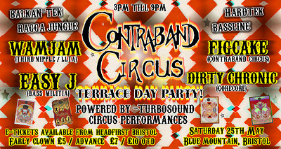 Contraband Circus- Terrace day party! at Blue Mountain in Bristol