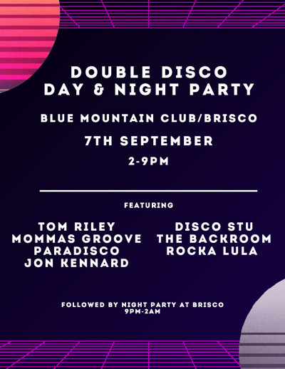 Double Disco Day & Night Party at Blue Mountain in Bristol