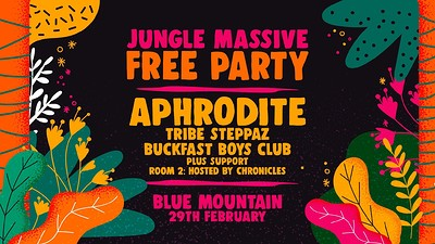 Jungle Massive Free Party: Aphrodite at Blue Mountain in Bristol