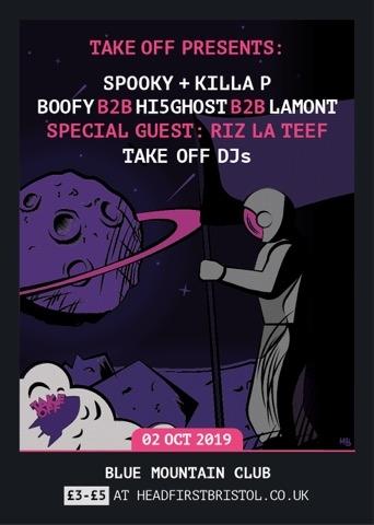 TakeOff Presents: Spooky+Killa P, Riz La Teef+More at Blue Mountain in Bristol