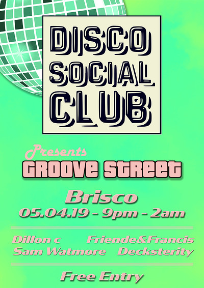Disco Social Club IV: Groove Street at BRISCO in Bristol