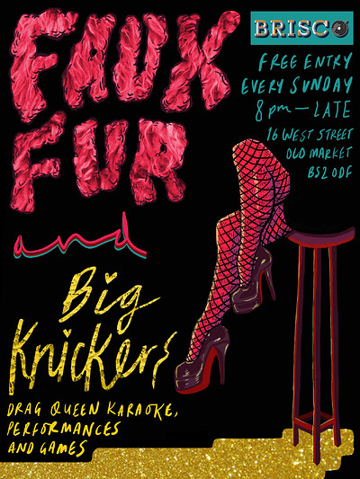 Faux Furr & Big Knickers - Drag Queen Karaoke at Brisco in Bristol
