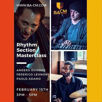 Rhythm Section Masterclass at Bristol Academy of Creative Music in Bristol