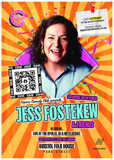 Capers Comedy Club: Jess Fostekew + Friends at Bristol Folk House in Bristol
