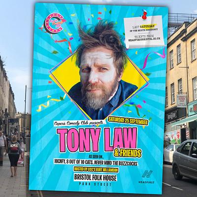 Capers Comedy Club: Tony Law & Friends at Bristol Folk House in Bristol