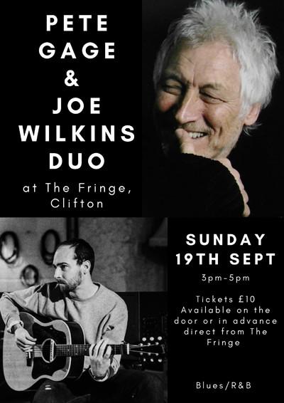 Pete Gage and Joe Wilkins at Bristol Fringe in Bristol